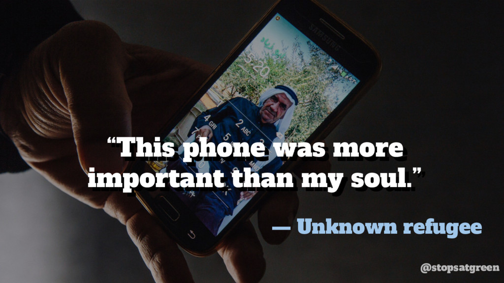 """This phone was more important than my soul."" ""..."