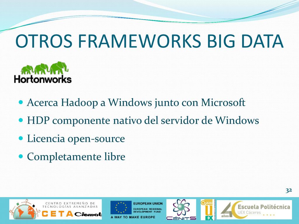  Acerca Hadoop a Windows junto con Microsoft ...