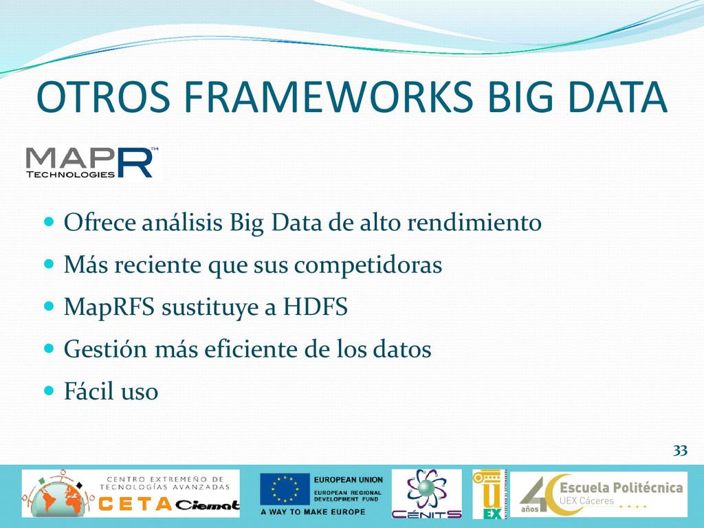  Ofrece análisis Big Data de alto rendimiento ...