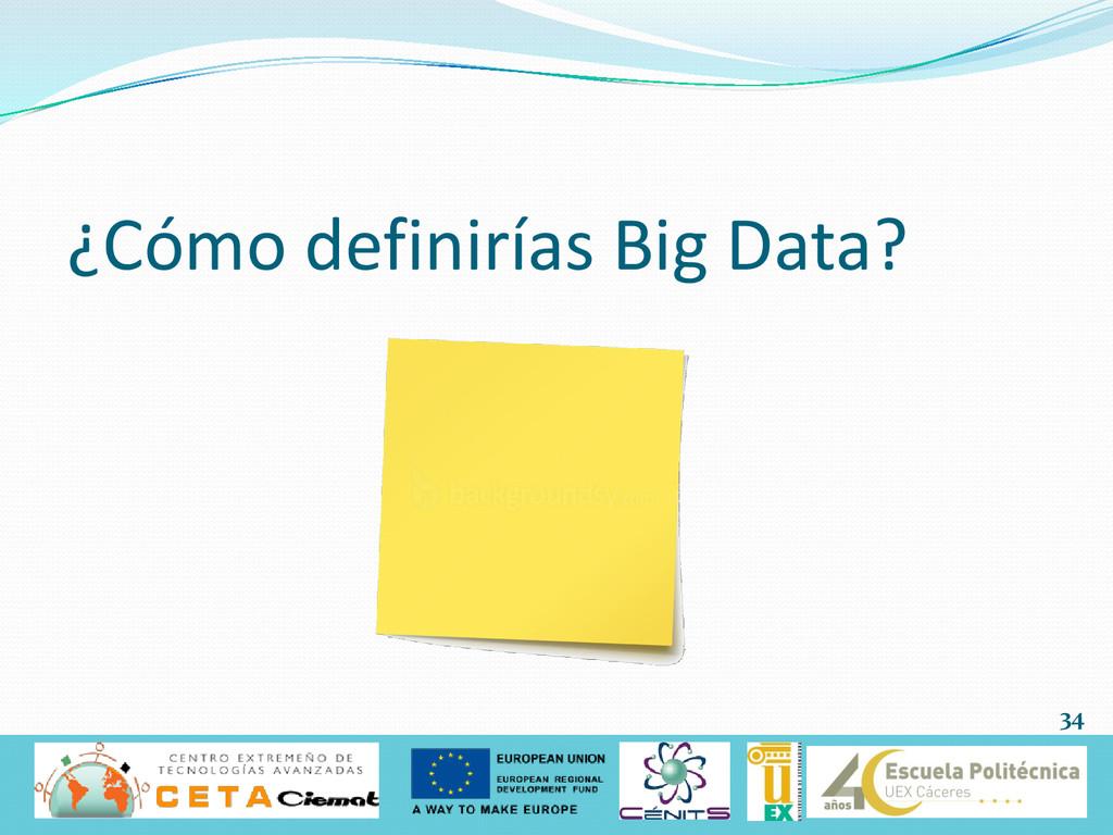 ¿Cómo definirías Big Data? 34