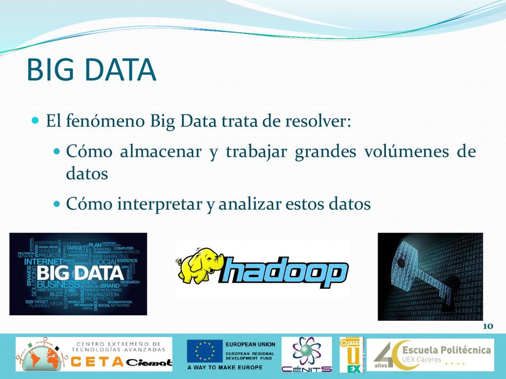  El fenómeno Big Data trata de resolver:  Cóm...