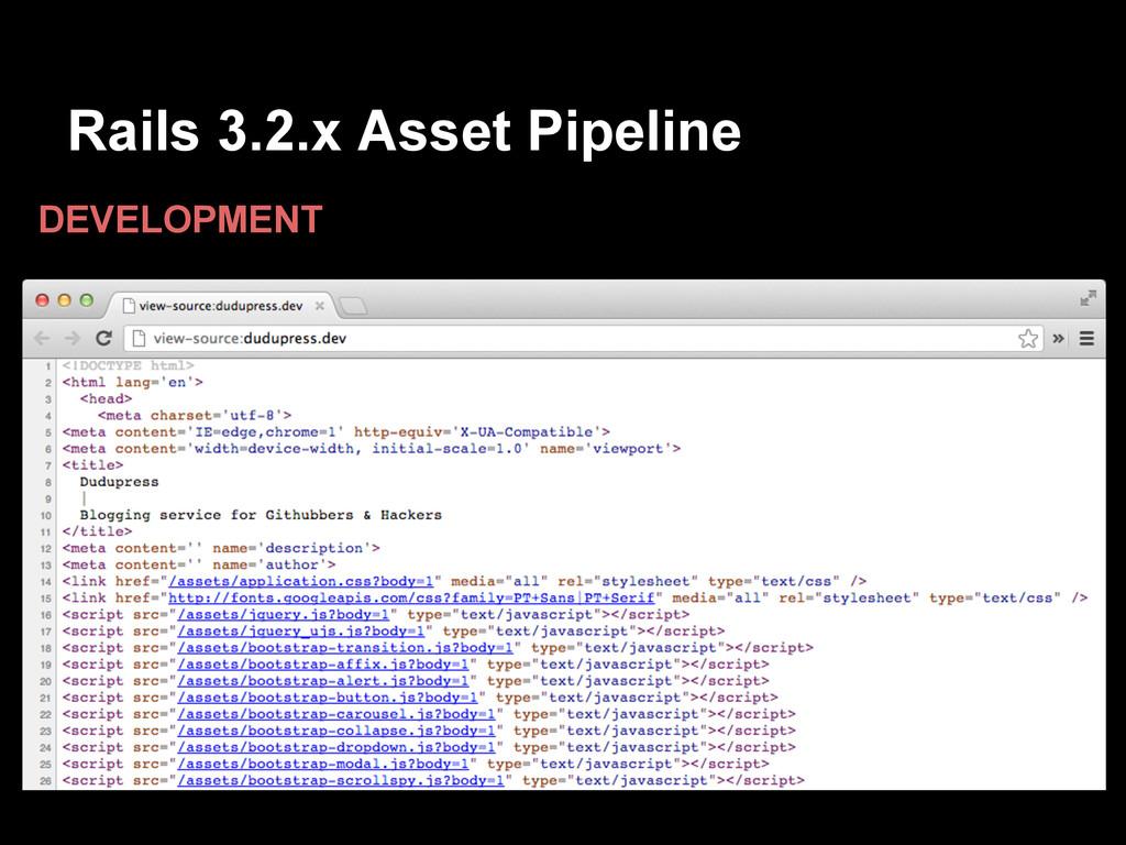 Rails 3.2.x Asset Pipeline DEVELOPMENT