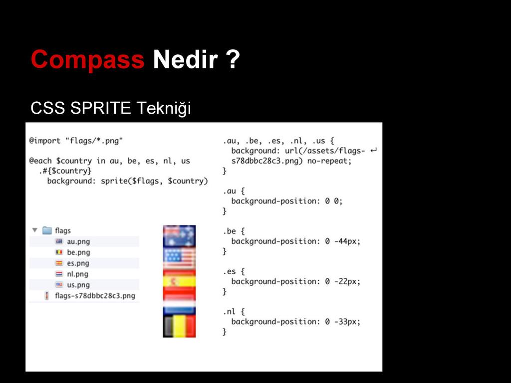 Compass Nedir ? CSS SPRITE Tekniği