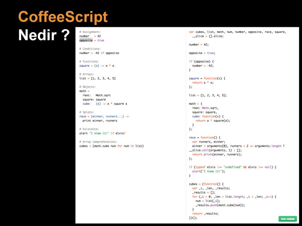 CoffeeScript Nedir ?