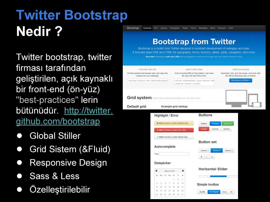 Twitter Bootstrap Nedir ? Twitter bootstrap, tw...