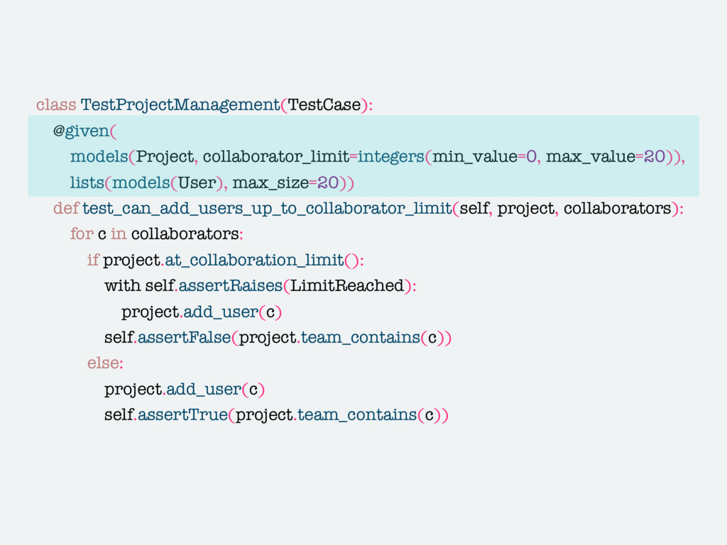 class TestProjectManagement(TestCase): @given( ...