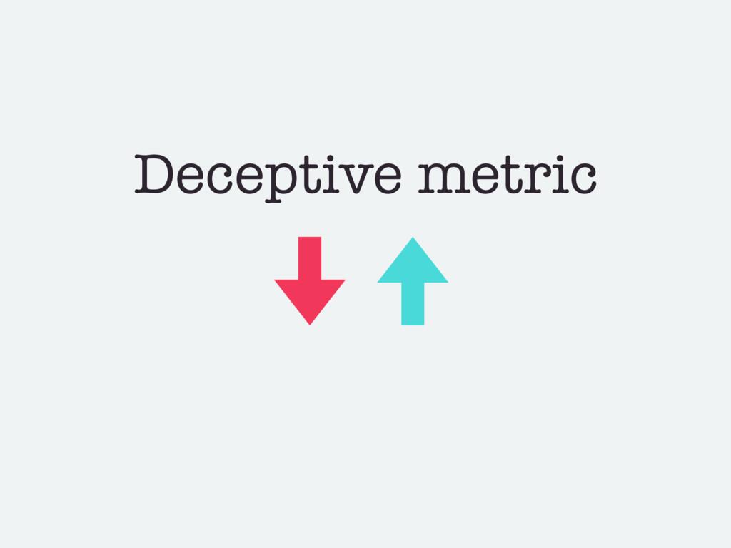 Deceptive metric