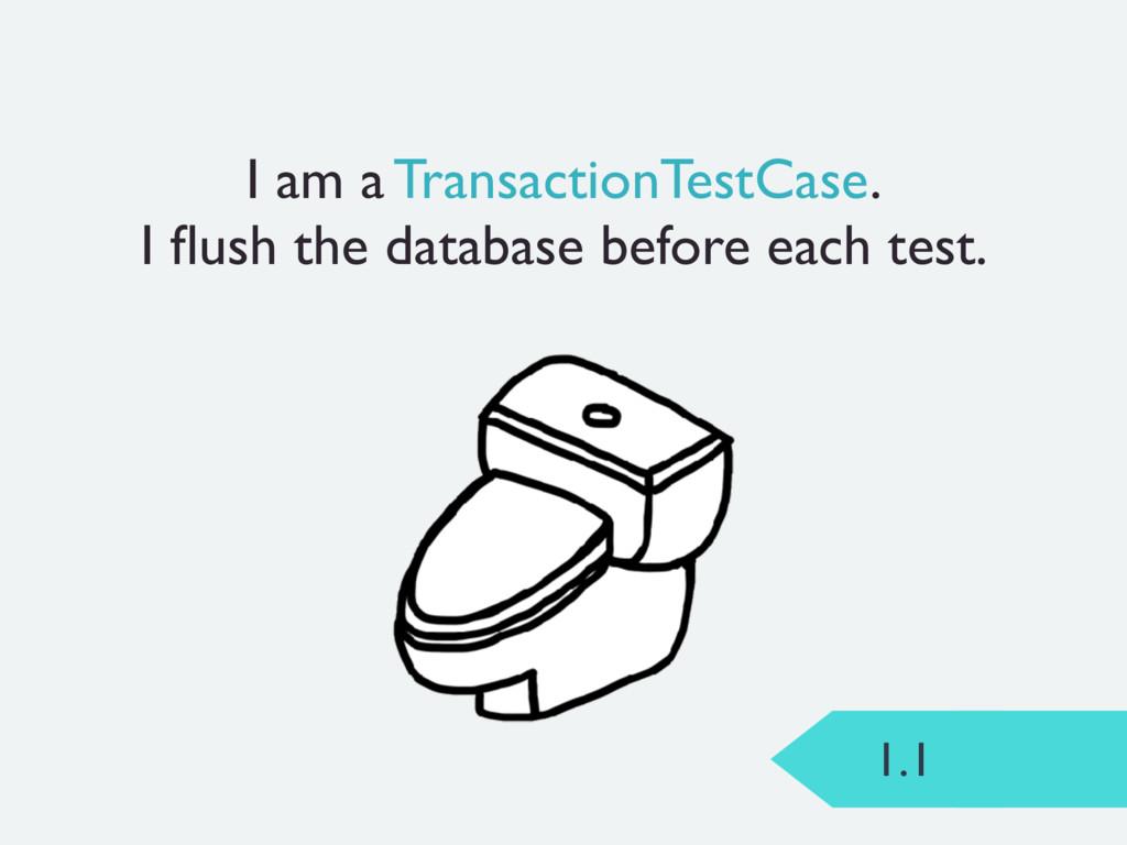 1.1 I am a TransactionTestCase. I flush the data...