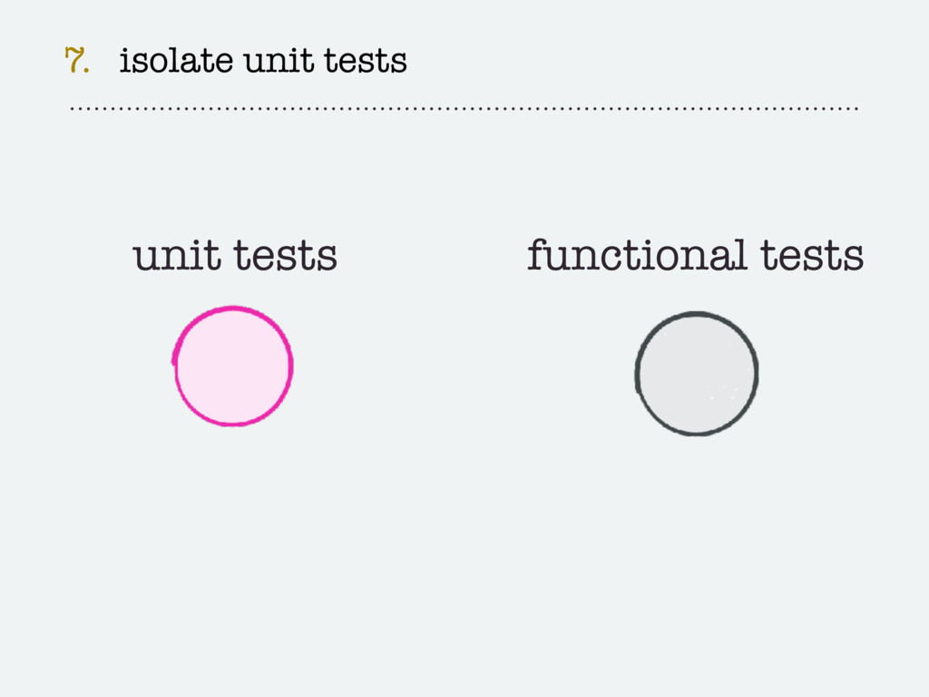 7. isolate unit tests unit tests functional tes...