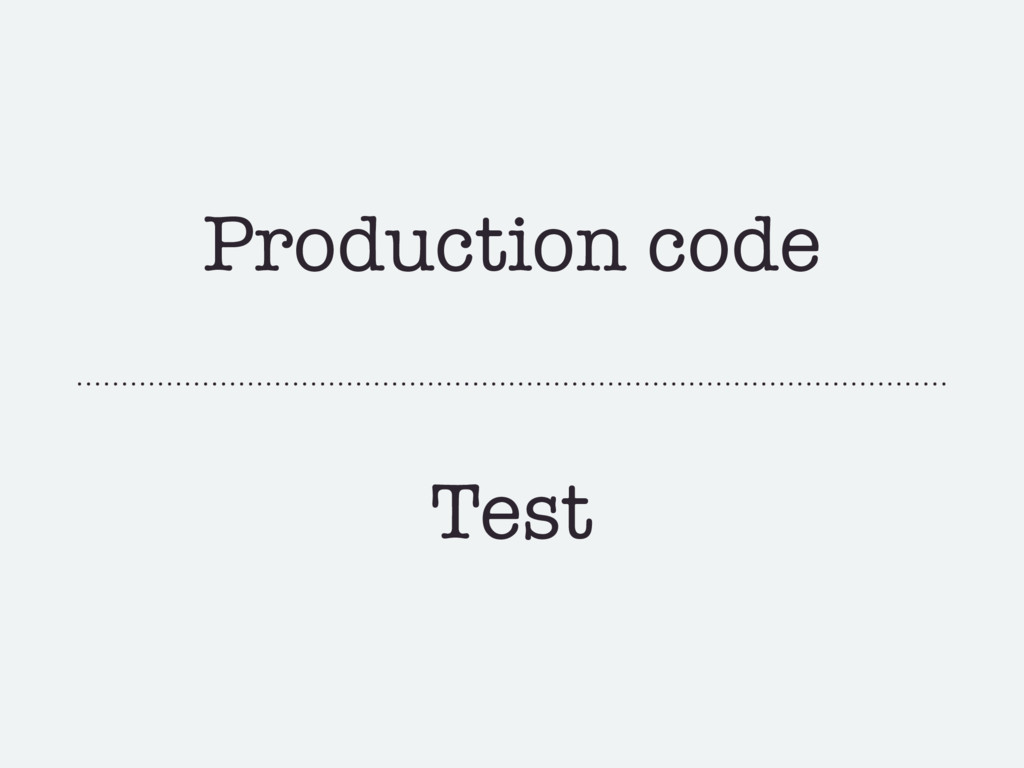 Production code Test