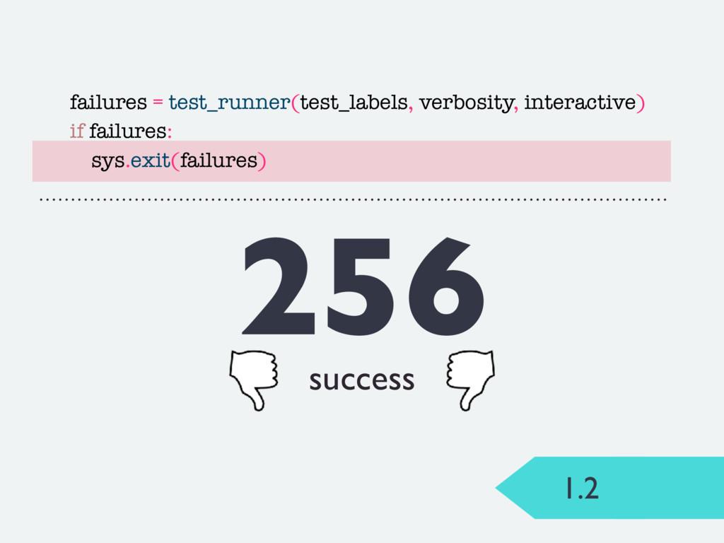 1.2 256 success failures = test_runner(test_lab...