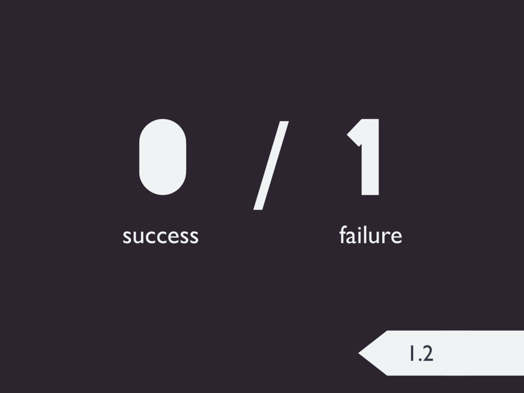 1.2 0 / 1 success failure
