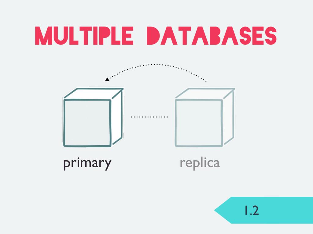 1.2 multiple databases primary replica