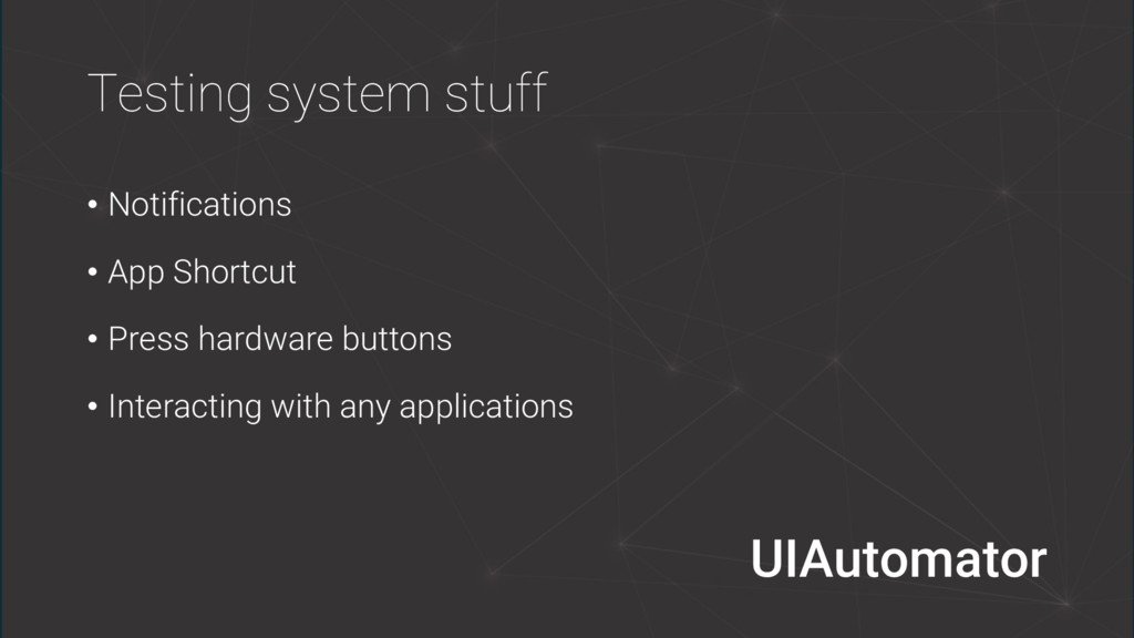 Testing system stuff • Notifications • App Shor...