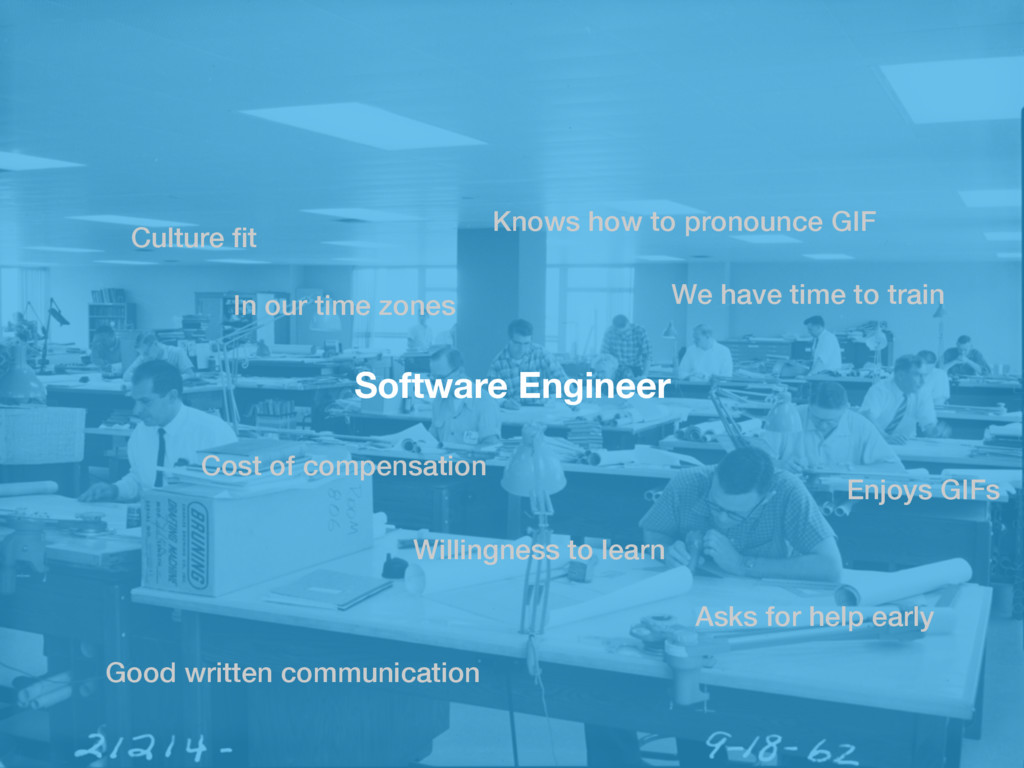 Software Engineer Culture fit In our time zones ...