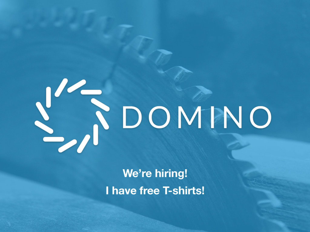 We're hiring! I have free T-shirts!