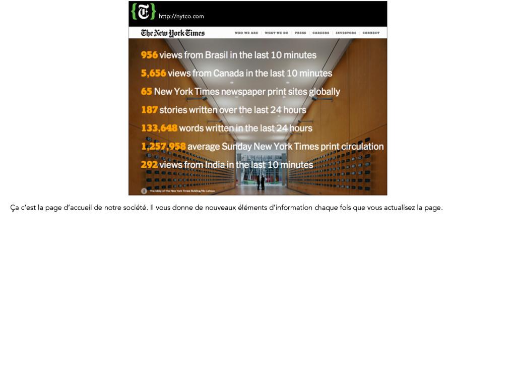 http://nytco.com Ça c'est la page d'accueil de ...