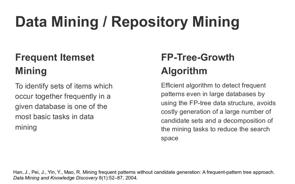 Frequent Itemset Mining To identify sets of ite...