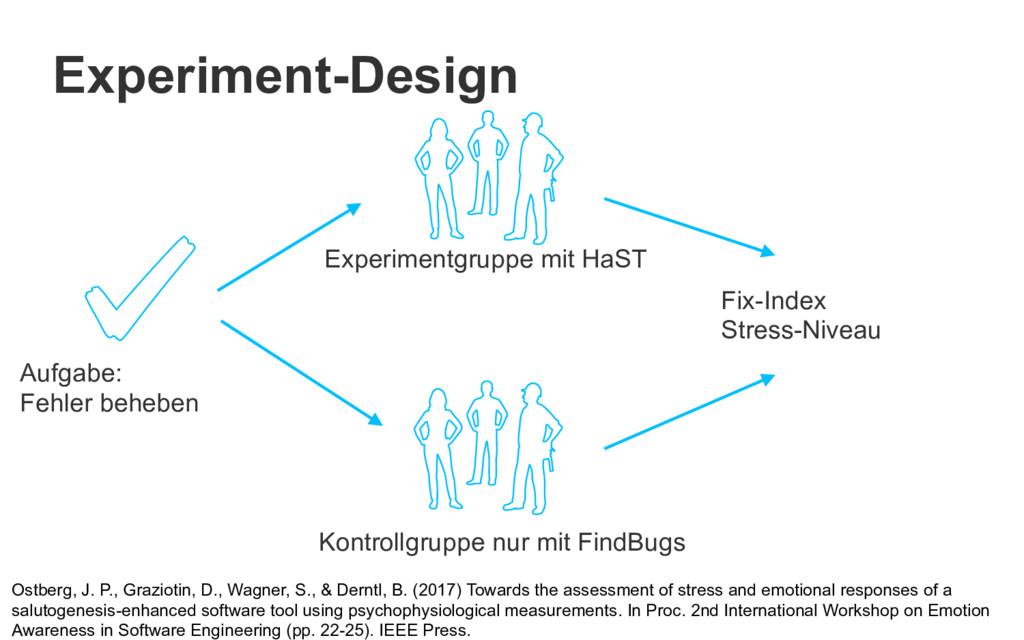 Experiment-Design Ostberg, J. P., Graziotin, D....