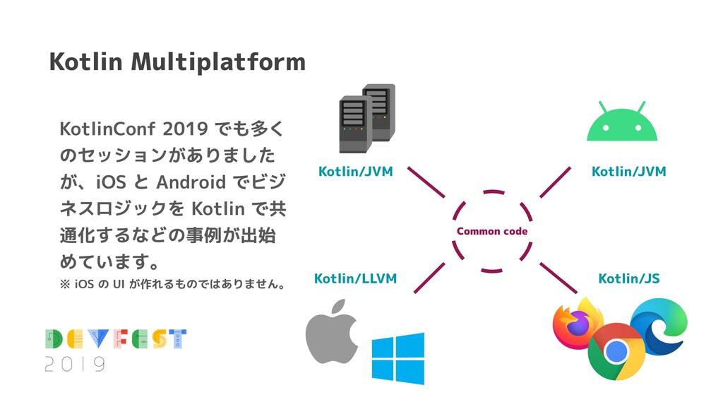Kotlin Multiplatform KotlinConf 2019 でも多く のセッショ...