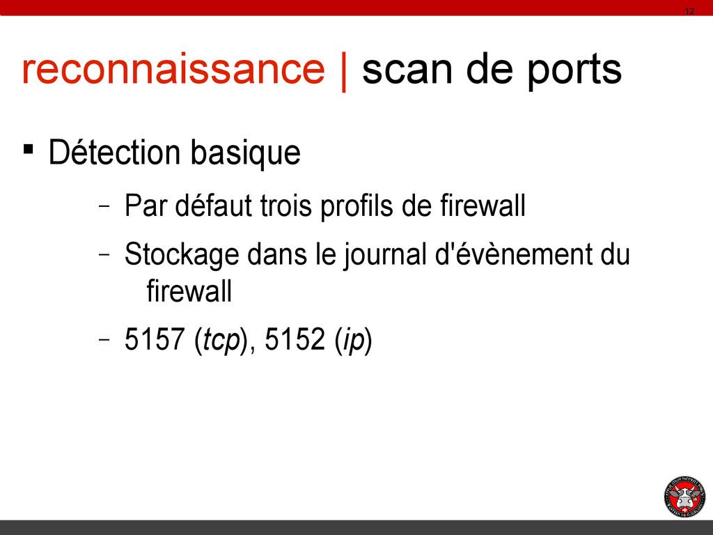reconnaissance | scan de ports § Détection basi...