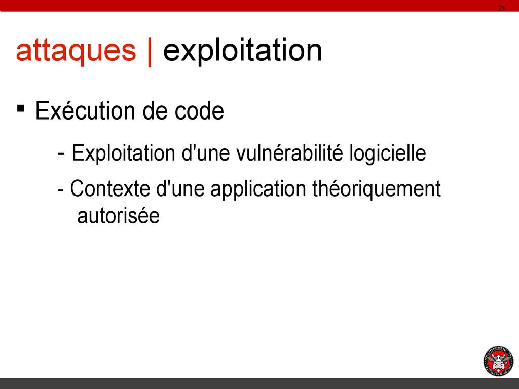 attaques | exploitation § Exécution de code - E...