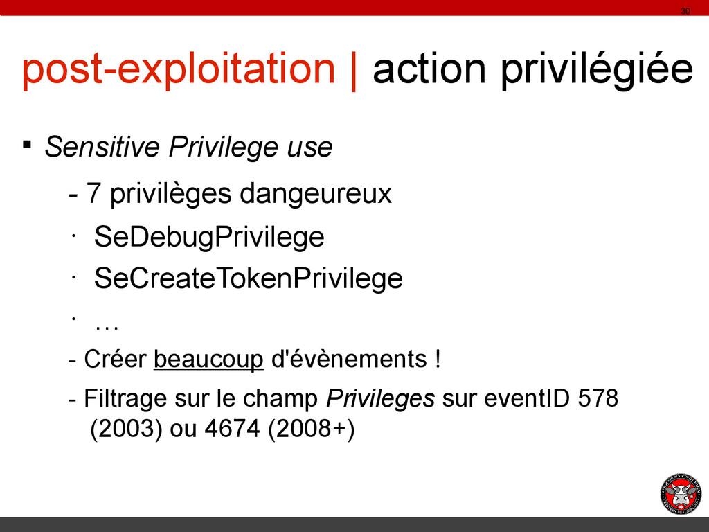 post-exploitation | action privilégiée § Sensit...