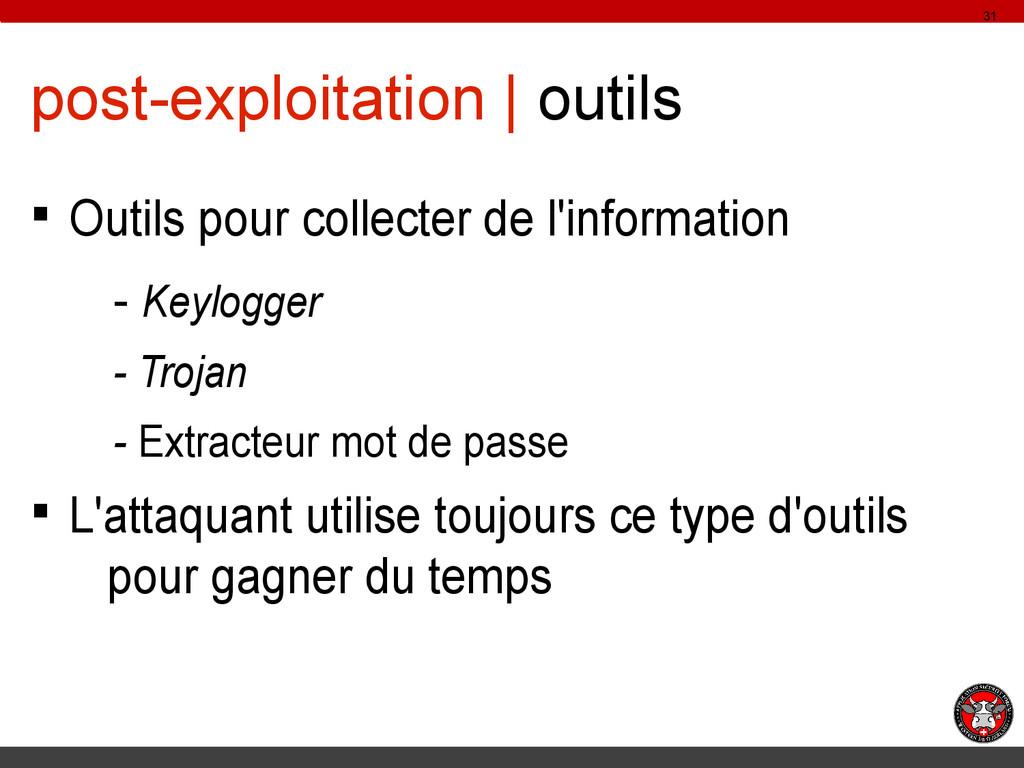 post-exploitation | outils § Outils pour collec...