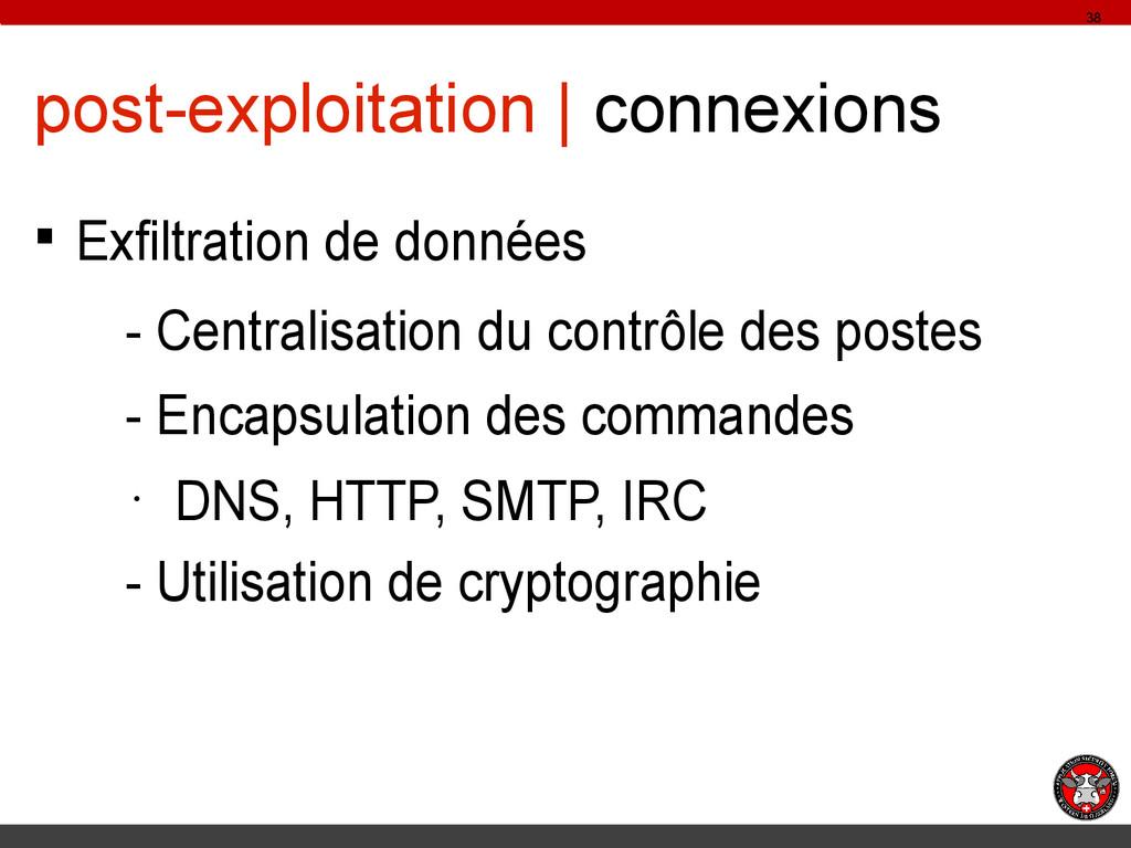 post-exploitation | connexions § Exfiltration d...