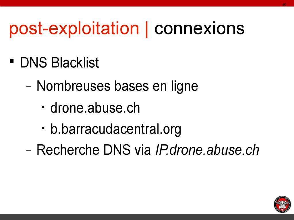 post-exploitation | connexions § DNS Blacklist ...