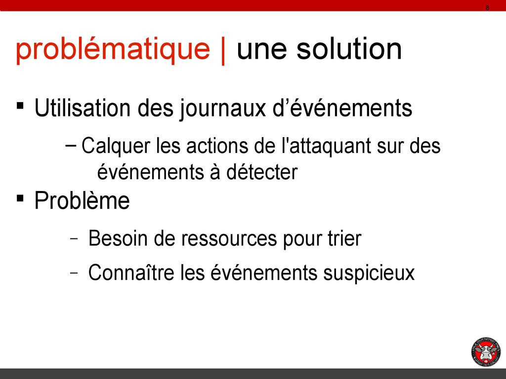problématique | une solution § Utilisation des ...