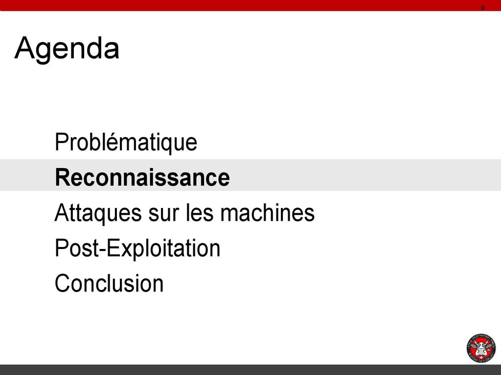 Agenda Problématique Reconnaissance Attaques su...