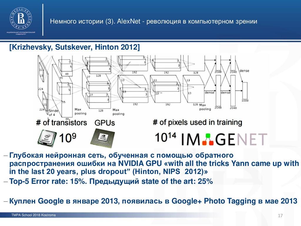 TMPA School 2018 Kostroma Немного истории (3). ...