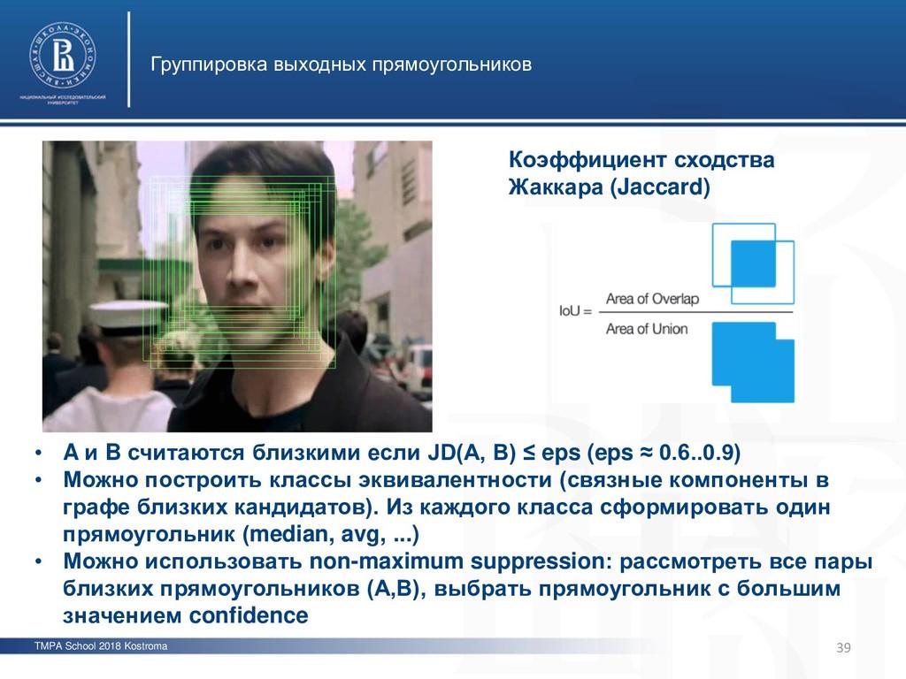 TMPA School 2018 Kostroma Группировка выходных ...
