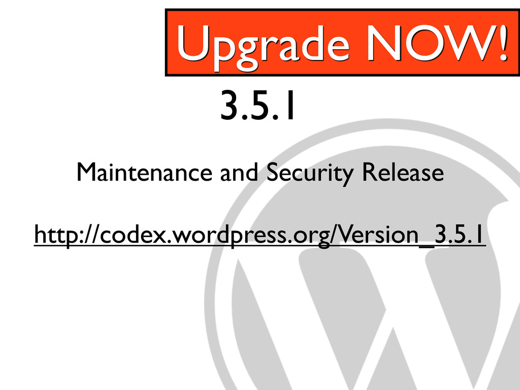 3.5.1 Maintenance and Security Release http://c...