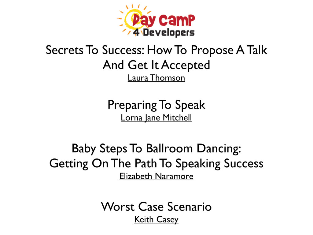 Secrets To Success: How To Propose A Talk And G...
