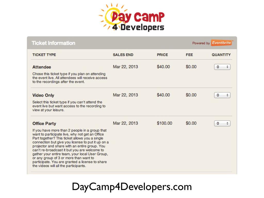 DayCamp4Developers.com