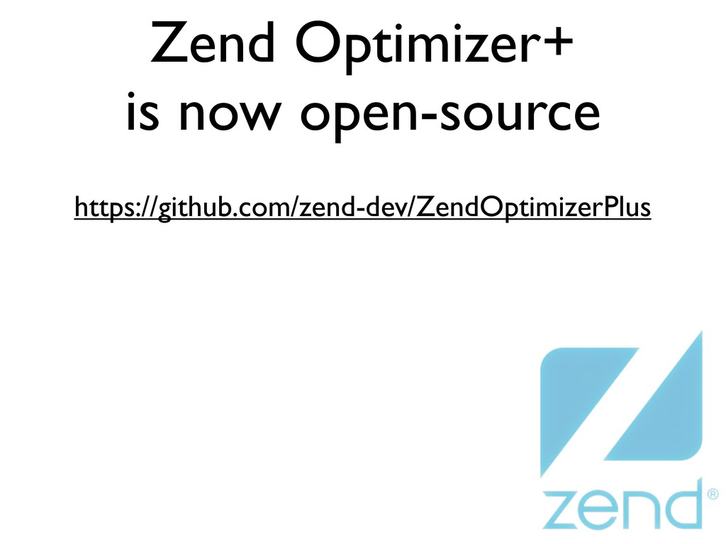 Zend Optimizer+ is now open-source https://gith...