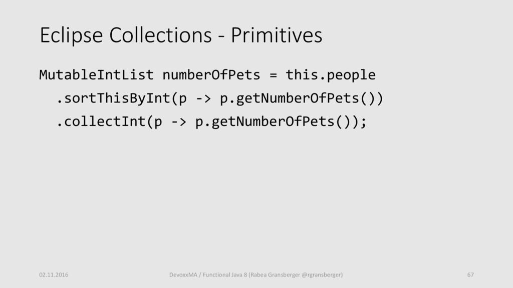 Eclipse Collections - Primitives MutableIntList...
