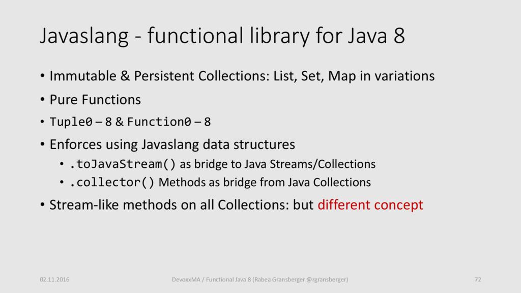Javaslang - functional library for Java 8 • Imm...