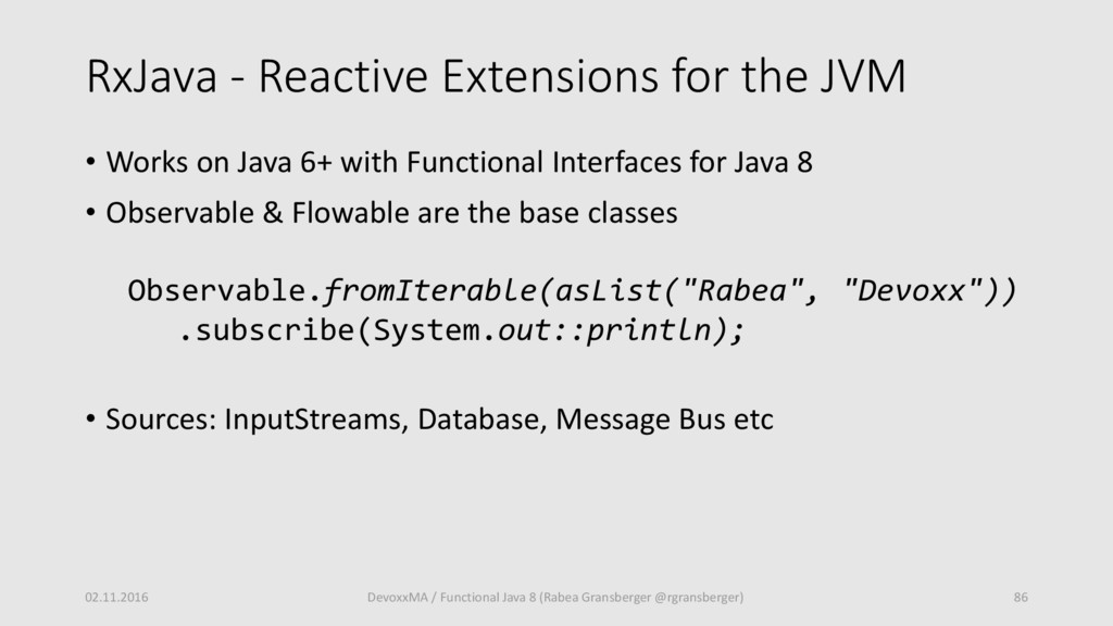 RxJava - Reactive Extensions for the JVM • Work...