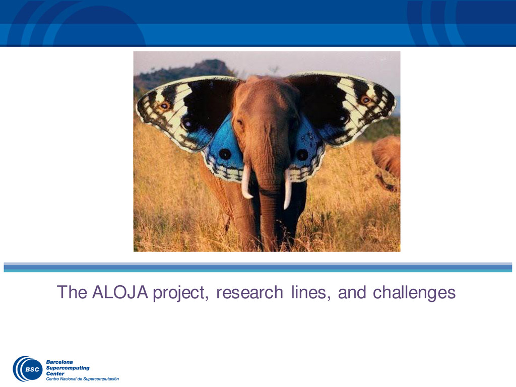 The ALOJA project, research lines, and challeng...