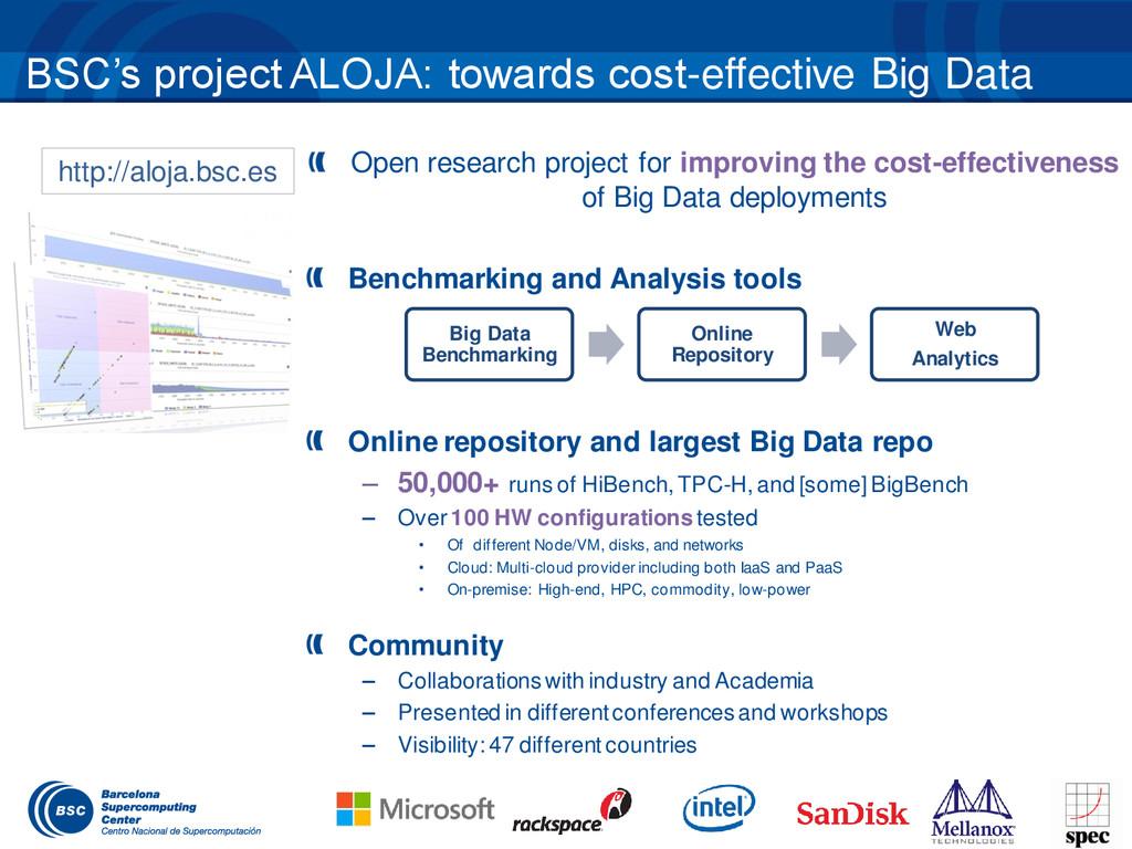 BSC's project ALOJA: towards cost-effective Big...