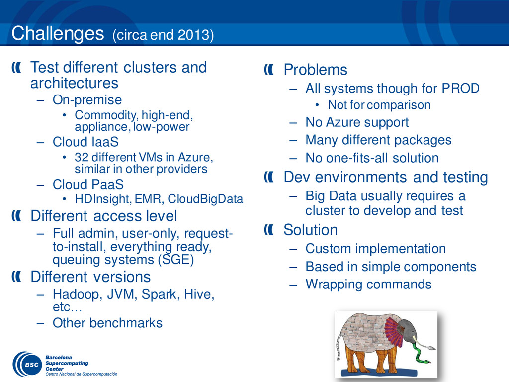 Test different clusters and architectures – On-...