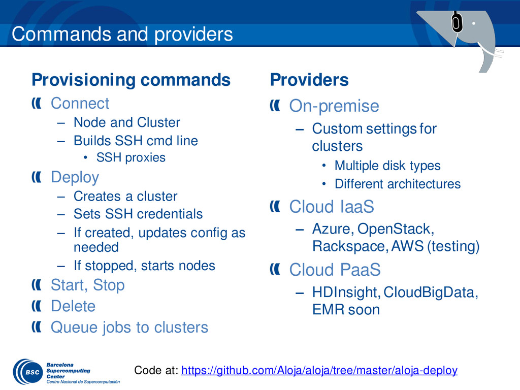 Commands and providers Provisioning commands Pr...