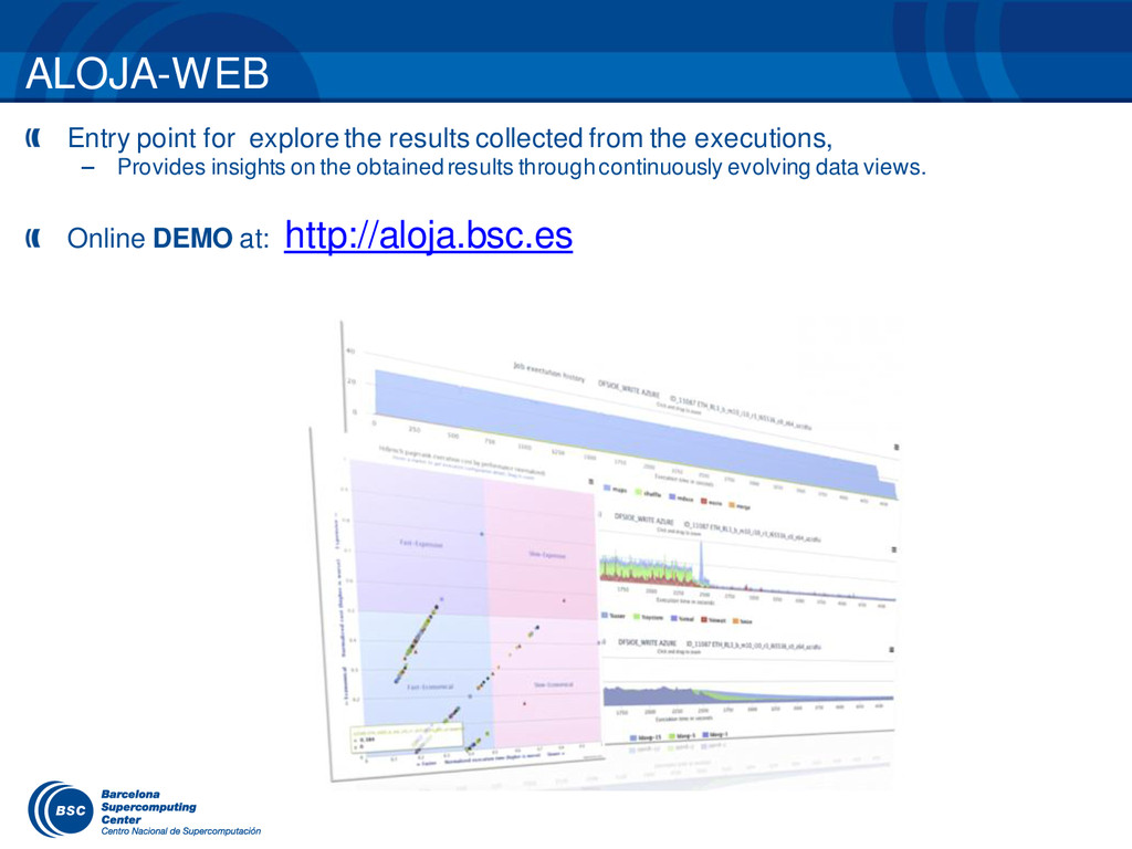 ALOJA-WEB Entry point for explore the results c...