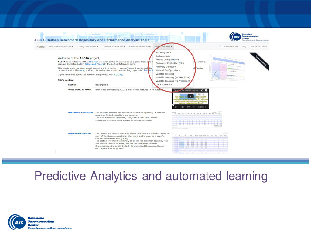 Predictive Analytics and automated learning