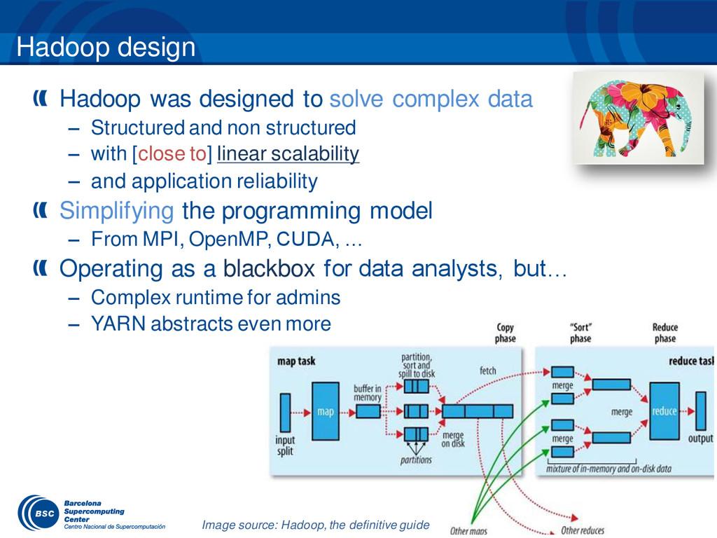 Hadoop design Hadoop was designed to solve comp...