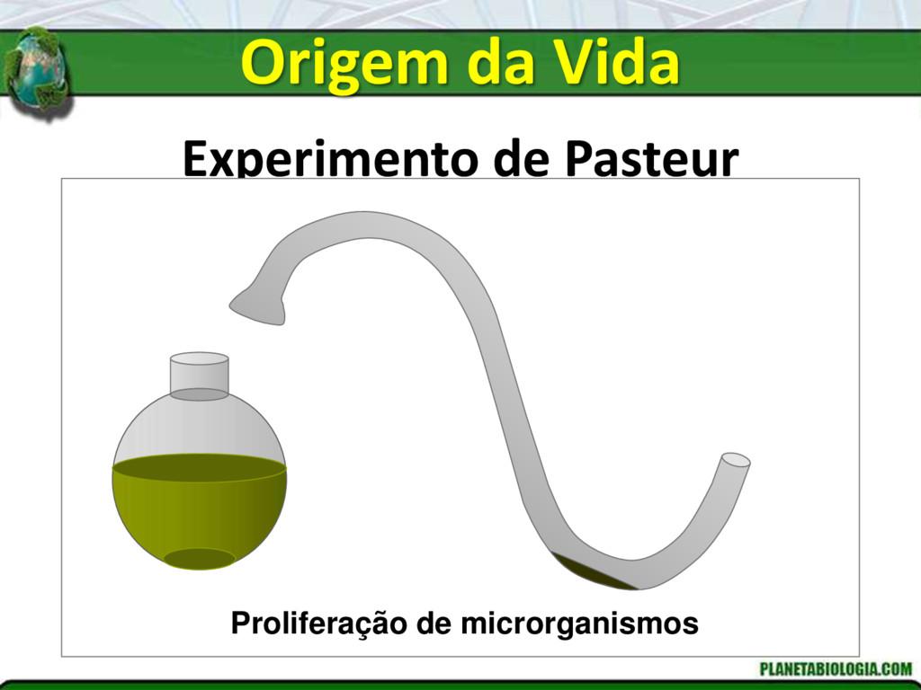 Experimento de Pasteur Proliferação de microrga...