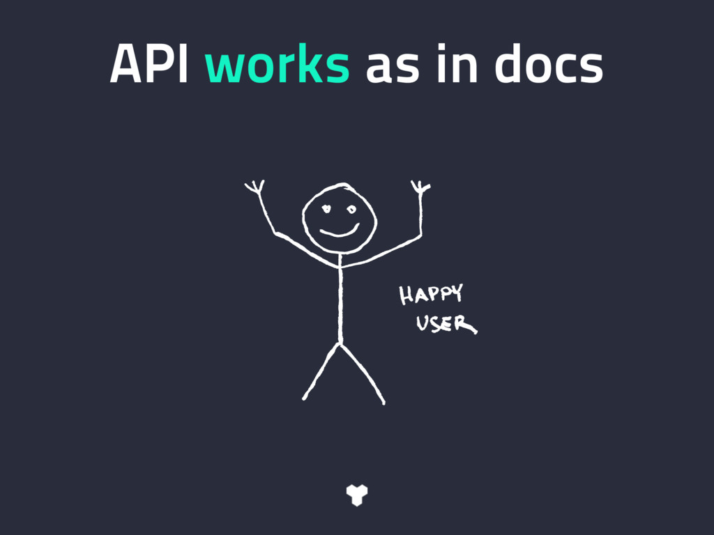 API works as in docs